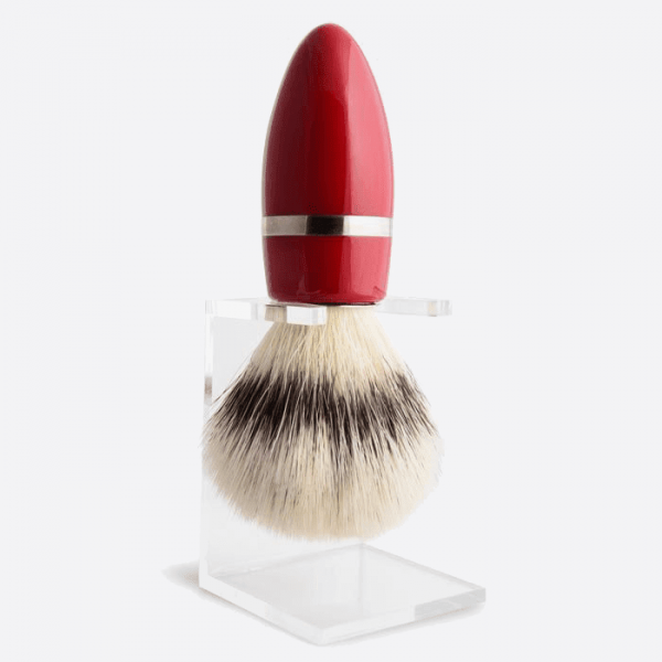 Elegance Lacquered Shaving Brush and Stand - 2 colours