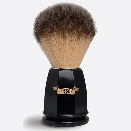 Black Facet Shaving Brush - Blond fiber