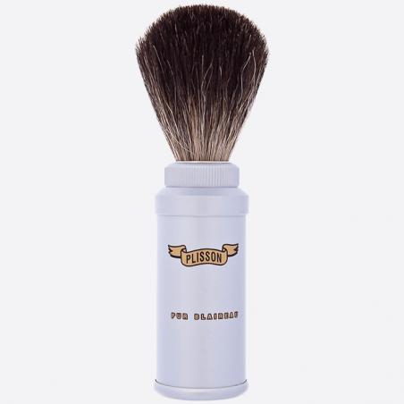 Cepillo de afeitar de viaje negro puro thumb-0