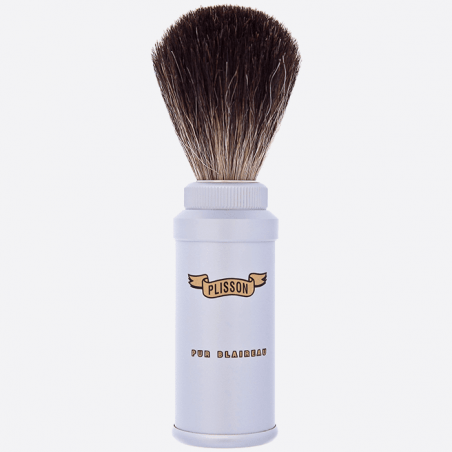 Pure black travel shaving brush thumb-0