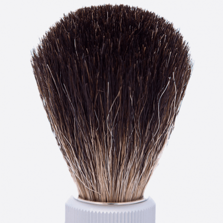 Pure black travel shaving brush thumb-1