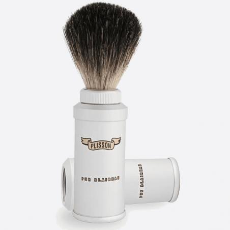 Cepillo de afeitar de viaje negro puro thumb-2