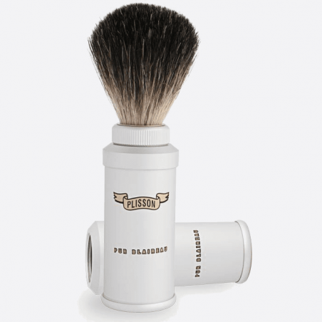 Pure black travel shaving brush thumb-2