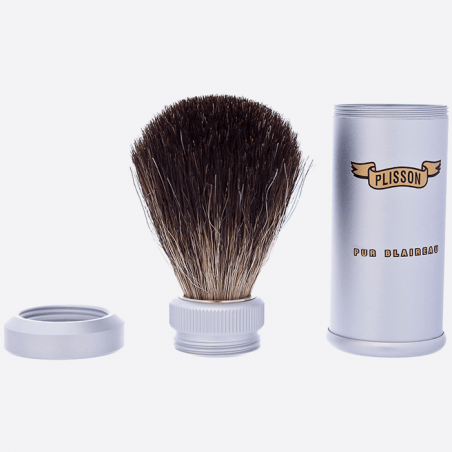 Pure black travel shaving brush thumb-3
