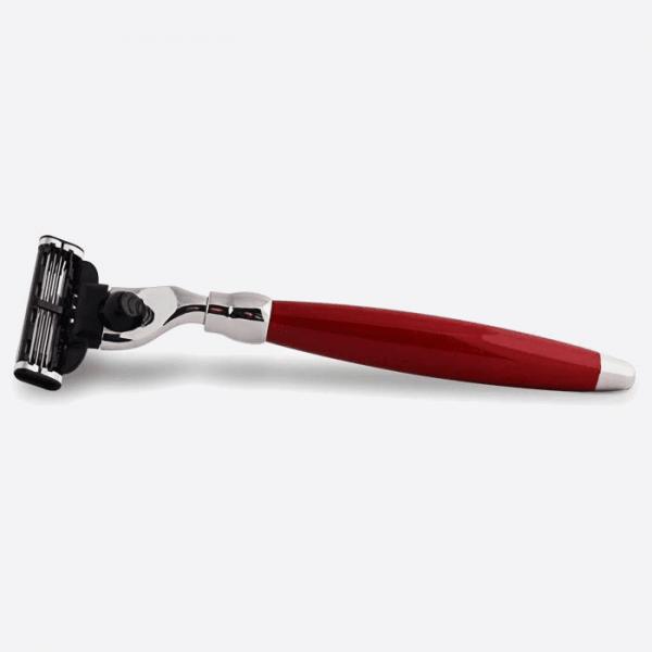 Red lacquered mach3 razor