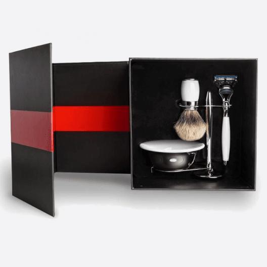 Luxus-Set - Weißer Lack & Palladium