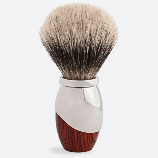 Odyssee Shaving brush - Royal Palissander & Palladium