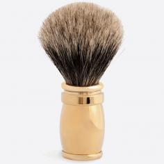 Brocha de afeitar macizo Oro