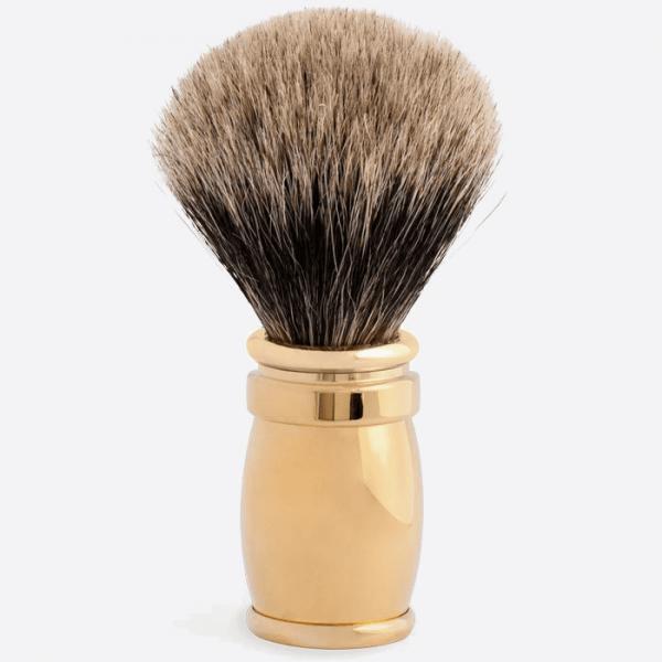 Rasierpinsel massives Messing - Gold