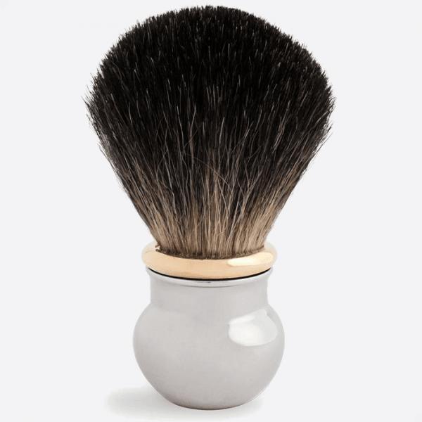 Brocha de afeitar paladio y oro