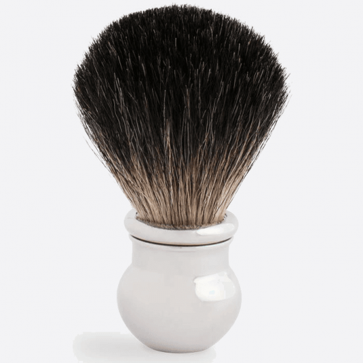 Brocha de afeitar Boule con acabado paladio