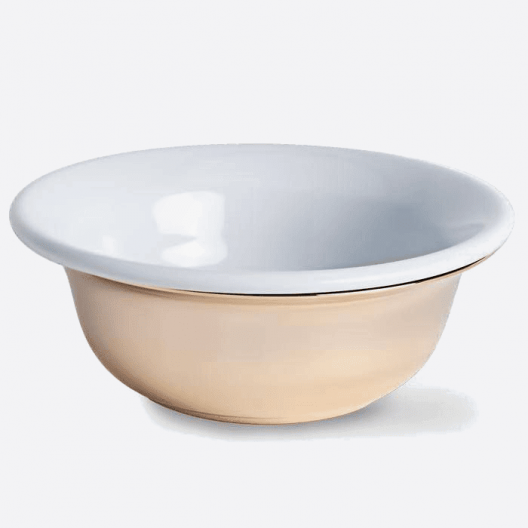 Shaving bowl gold & porcelain