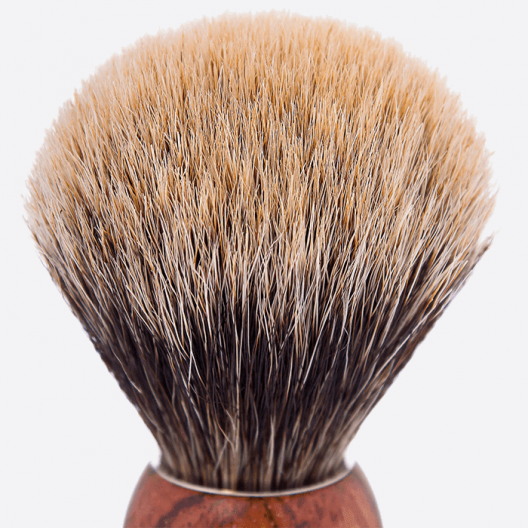 Pure grey badger, Bubinga wood