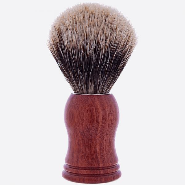 Pure grey badger, Bubinga wood