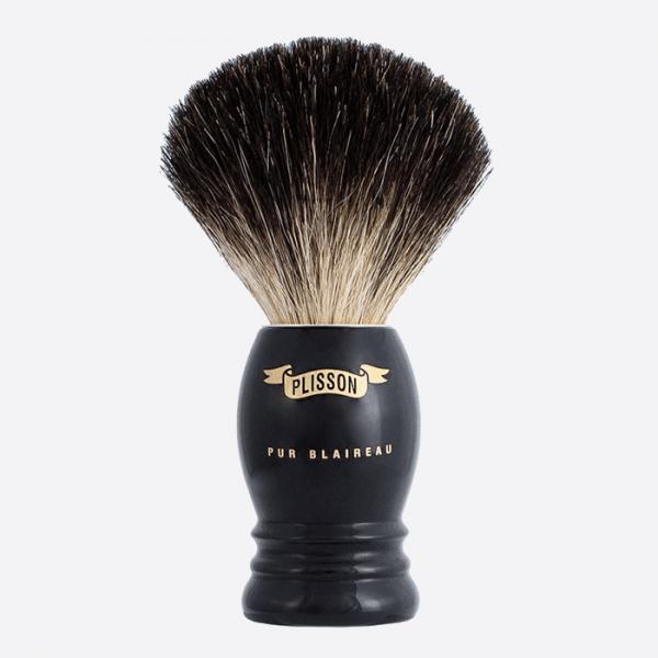 Shaving Brush High Mount Pure Black -...