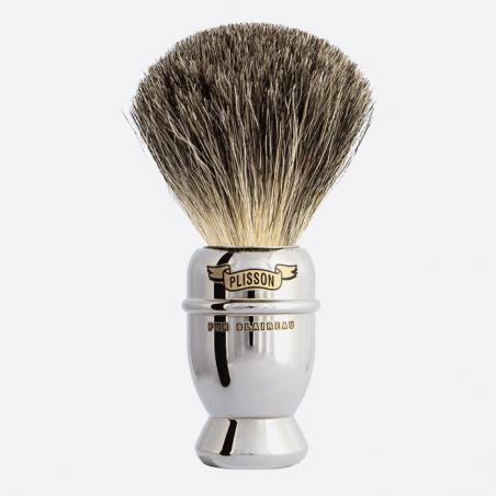 Brocha de afeitar Antigua de Cobre niquelado thumb-0