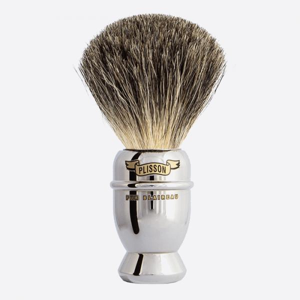Brocha de afeitar Antigua de Cobre niquelado