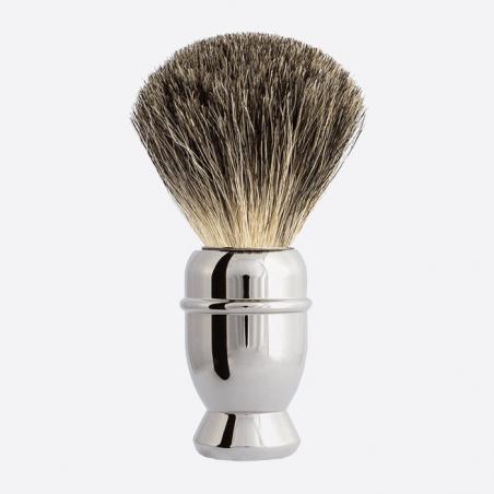 Brocha de afeitar Antigua de Cobre niquelado thumb-1