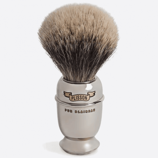 Brass Antique nickeled & white badger