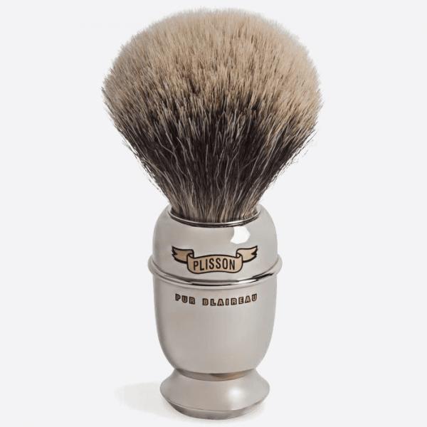 Brocha de afeitar Antiguo de Cobre niquelado