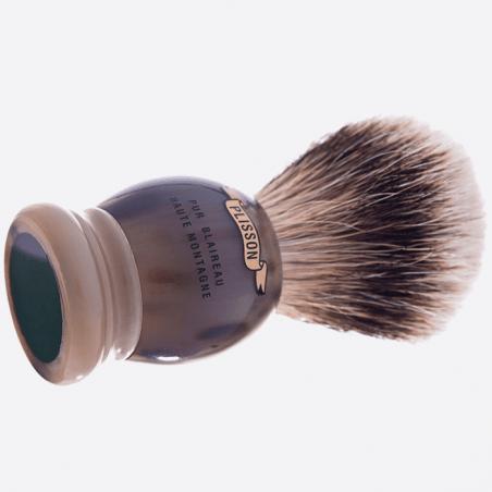 Rasierpinsel, Horn, weisses Haar Silberspitz thumb-0