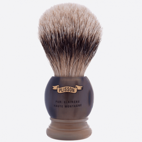 Brocha de afeitar cuerno auténtico thumb-2