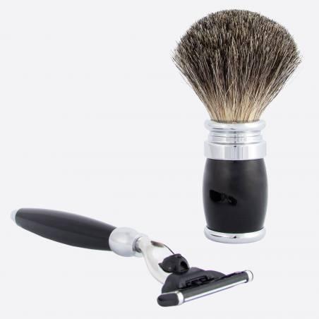 Shaving set black & chrome thumb-1