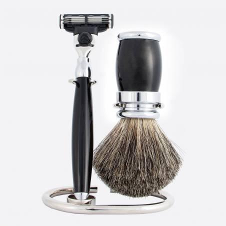 Shaving set black & chrome thumb-0