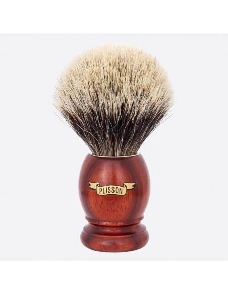 Original Padouk & European Grey Shaving Brush thumb-0