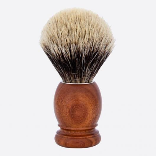 Brocha de afeitar Original madera de Palisandro Santos Gris Europeo