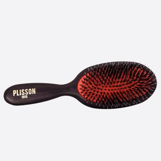 Pneumatische Haarbürste Mediummodell - Wildschwein und Nylonstifte