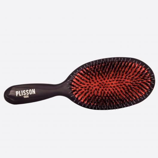 Pneumatische Haarbürste großmodell - Wildschwein und Nylonstifte