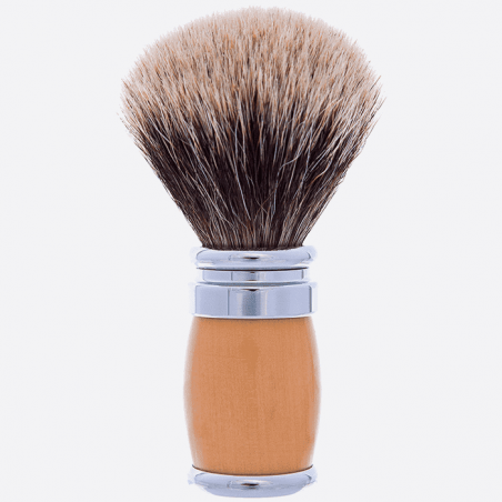 Andean Boxwood and Chrome Joris Shaving brush - European Grey thumb-0