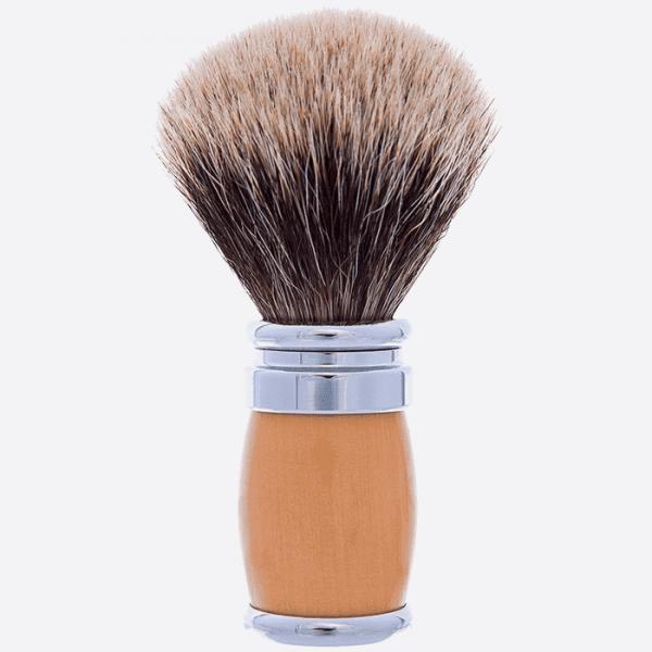 Andean Boxwood and Chrome Joris Shaving brush - European Grey