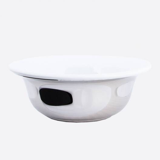Shaving bowl palladium & porcelain