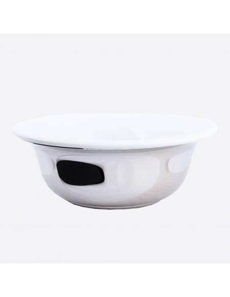 Shaving bowl palladium & porcelain thumb-0