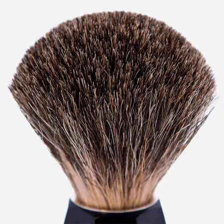 China Grey 'Stencil' Faceted Shaving Brush thumb-2