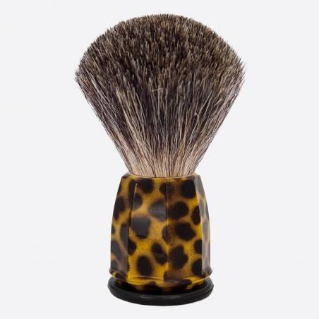 China Grey 'Stencil' Faceted Shaving Brush thumb-1