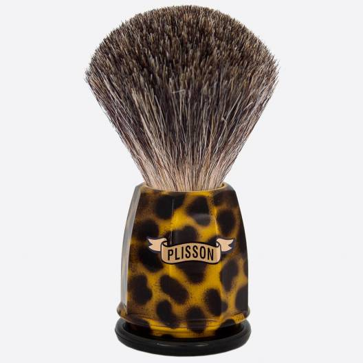 China Grey 'Stencil' Faceted Shaving Brush