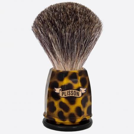 China Grey 'Stencil' Faceted Shaving Brush thumb-0