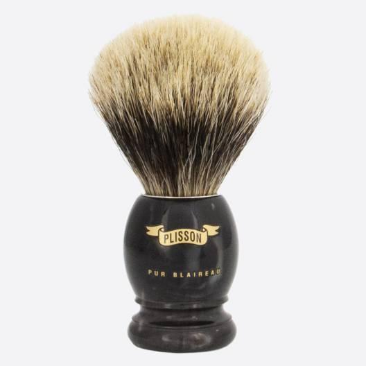 Original Black Horn & European grey shaving brush