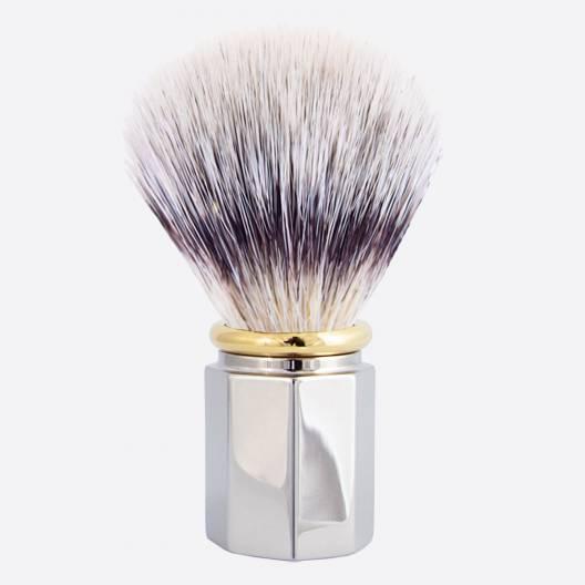 Shaving Brush Octagonal 'High Mountain White' Fibre - 3 finishes