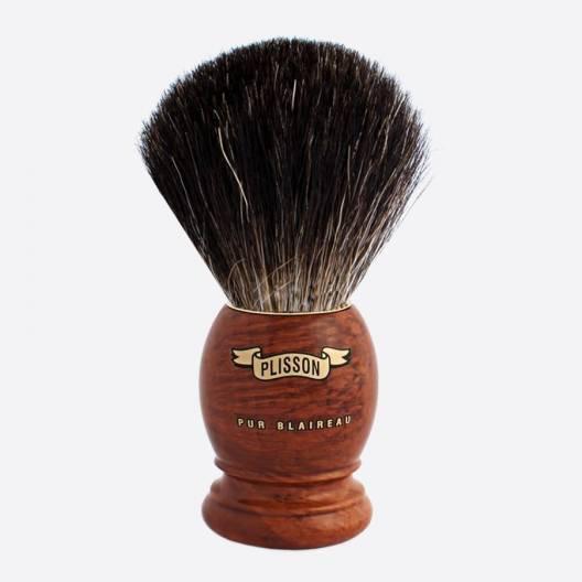 Brocha de afeitar original de madera de brezo - Negro puro