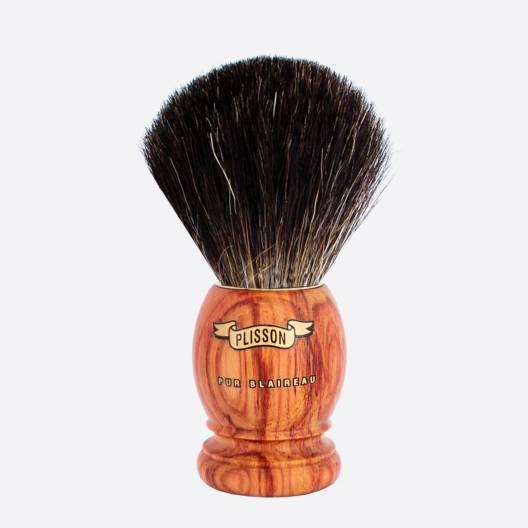 Brocha de afeitar original de palo de rosa - Negro puro