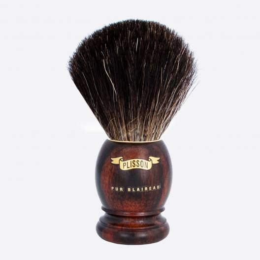 Brocha de afeitar original de ébano de Macasar - Negro puro