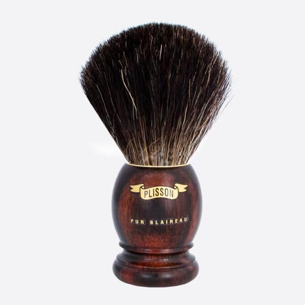 Brocha de afeitar original de ébano...