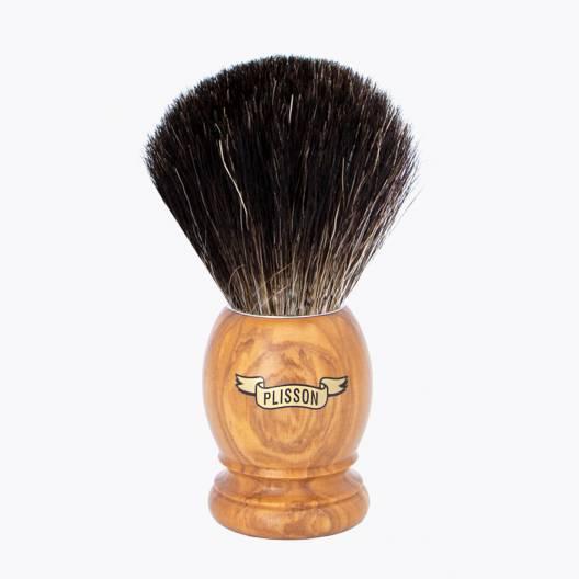 Brocha de afeitar Original Madera de Olivo - Negro puro
