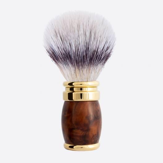 "Joris Thuja and Gold Shaving Brush - ""White High Mountain"" fibre"