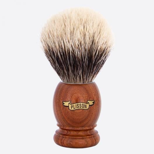 Brocha de afeitar original de palisandro de Santos - Blanco europeo