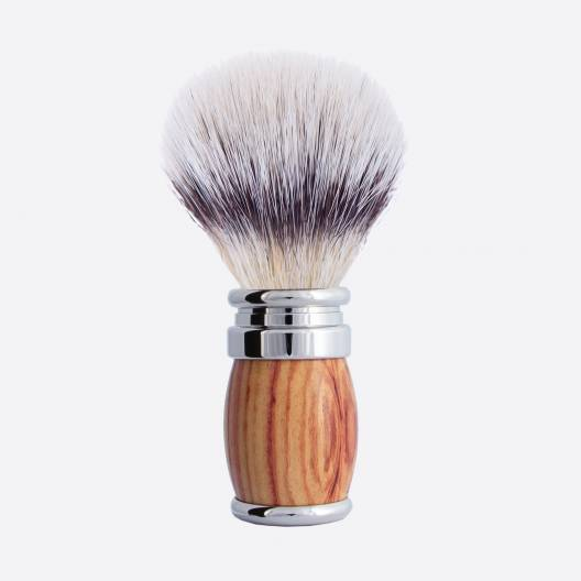 "Joris Rosewood and Palladium Shaving Brush - ""White High Mountain"" fibre"